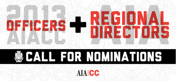 AIACC, California Nomincations, AIA, Officers, Regional Directors